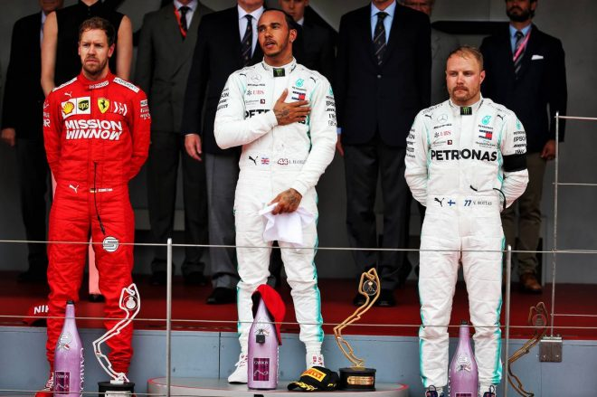 2019年F1第6戦モナコGP 優勝はルイス・ハミルトン、2位セバスチャン・ベッテル、3位バルテリ・ボッタス