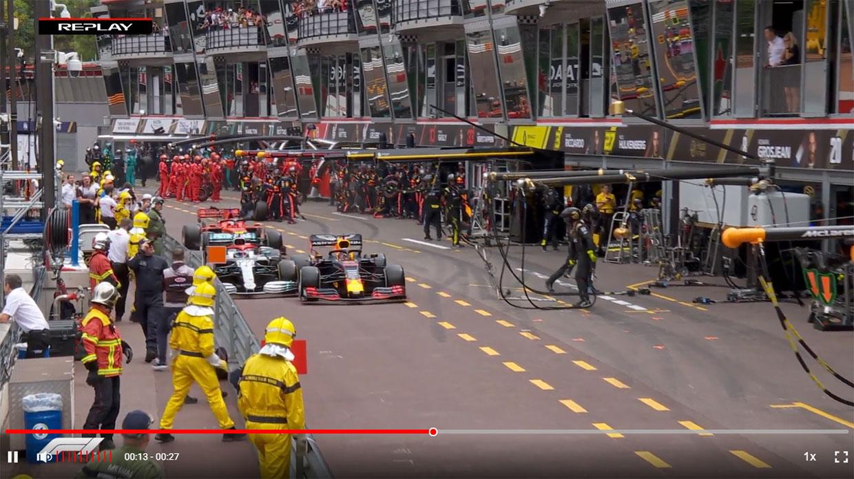 【動画】アンセーフリリースによりペナルティを受けてしまったフェルスタッペン/F1第6戦モナコGP決勝