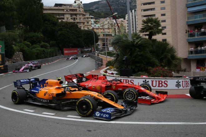 2019年F1第6戦モナコGP決勝 シャルル・ルクレールとランド・ノリスのバトル