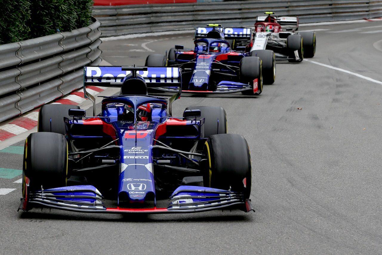2019年F1第6戦モナコGP ダニール・クビアトとアレクサンダー・アルボン(トロロッソ・ホンダ)