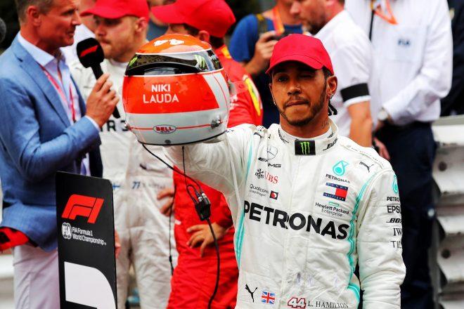 2019年F1第6戦モナコGP ルイス・ハミルトン(メルセデス)、ニキ・ラウダ追悼ヘルメットで勝利をつかむ