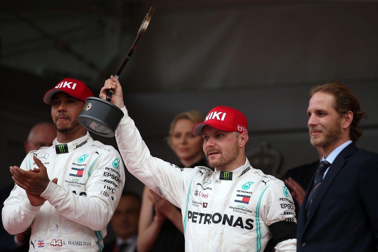 2019年F1第6戦モナコGP バルテリ・ボッタス(メルセデス)が3位表彰台