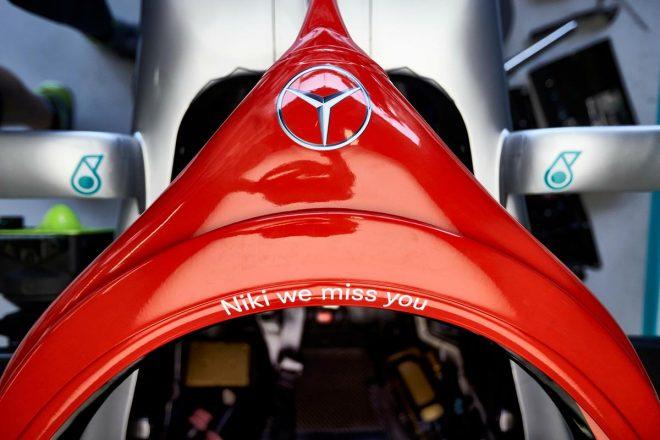 メルセデスF1がニキ・ラウダを追悼