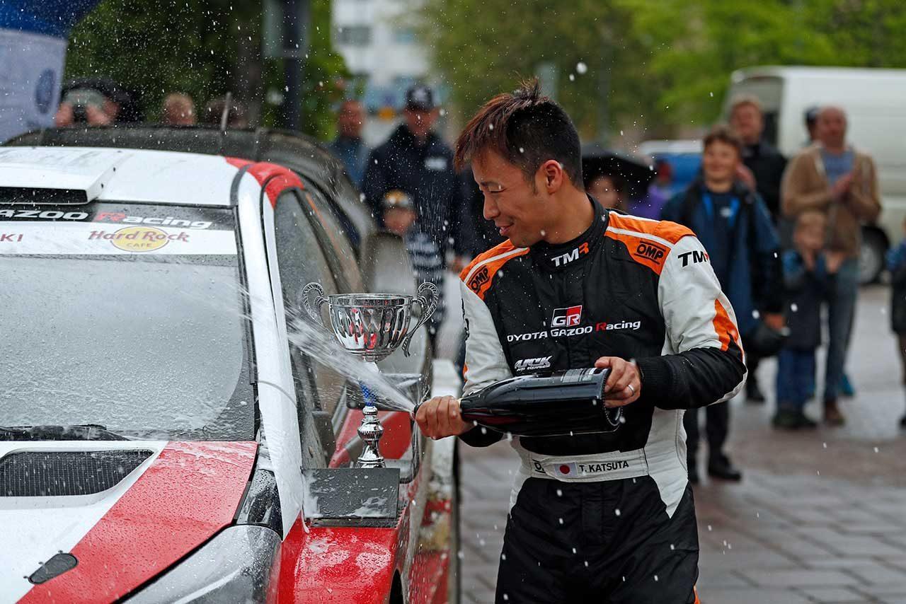勝田は3月のイタ・ラリーに続いてトヨタ・ヤリスWRCで2勝目を手にした
