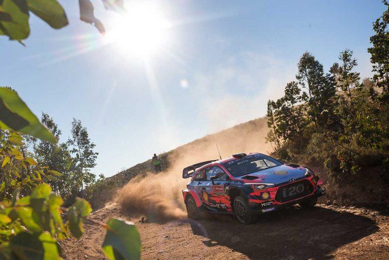 ラリー/WRC   WRC:第7戦ポルトガルのシェイクダウンはヒュンダイ首位。0.1秒差でトヨタのミークが続く