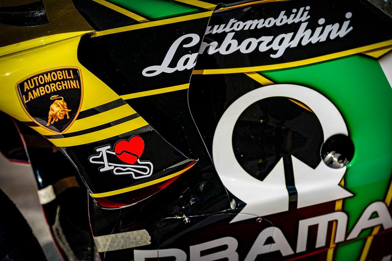 ランボルギーニカラーが施されたフランセスコ・バニャイアのデスモセディチGP