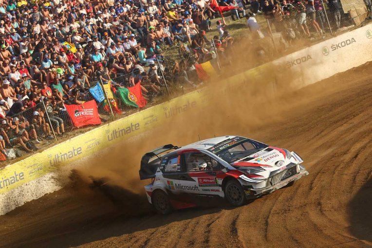 ラリー/WRC   WRC:トヨタ、第7戦ポルトガル初日にトップ3独占も「予想よりも厳しい1日」とマキネン