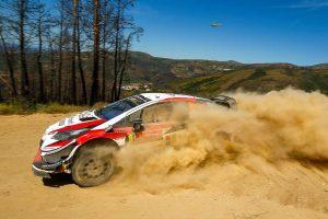 ラリー/WRC | WRCポルトガル:トヨタのタナク、トラブルで失速も首位守る。優勝争いは10秒以内の接近戦