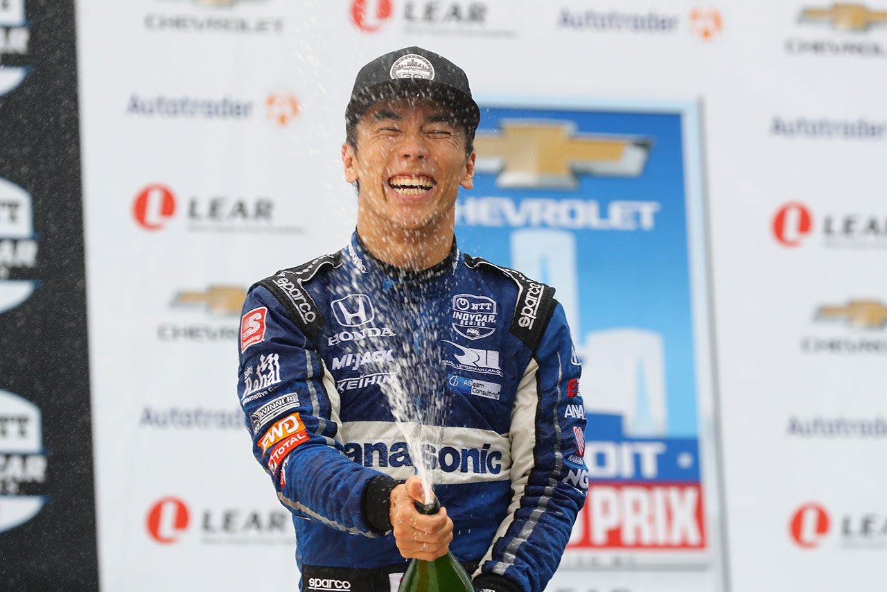 オーバーテイク連発で2戦連続3位獲得の琢磨「恵の雨を逃すわけにはいかなかった」