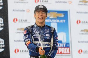 海外レース他 | オーバーテイク連発で2戦連続3位獲得の琢磨「恵の雨を逃すわけにはいかなかった」