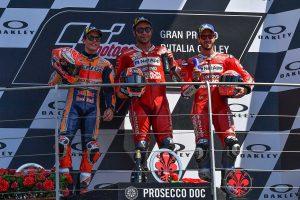 MotoGP | 初優勝のペトルッチ「最終周の1コーナーでスペースを見出した」/MotoGP第6戦イタリアGP 決勝トップ3コメント