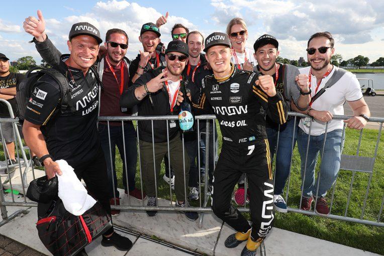 海外レース他 | インディカー初表彰台を獲得したエリクソン「思ったより少し時間がかかった」