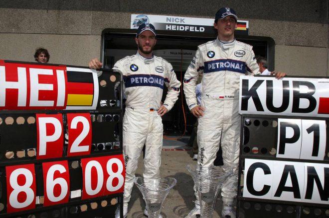 2008年F1第7戦カナダGP ロバート・クビサ&ニック・ハイドフェルド(BMWザウバー)