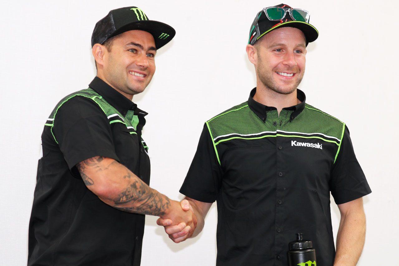 2019年最初の鈴鹿8耐テストに登場したジョナサン・レイとレオン・ハスラム