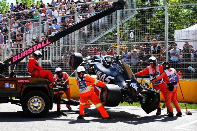 2019年F1第7戦カナダGP 予選Q2でケビン・マグヌッセンがクラッシュ