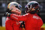 2019年F1第7戦カナダGP ポールポジションを獲得したセバスチャン・ベッテルと3番手のシャルル・ルクレール