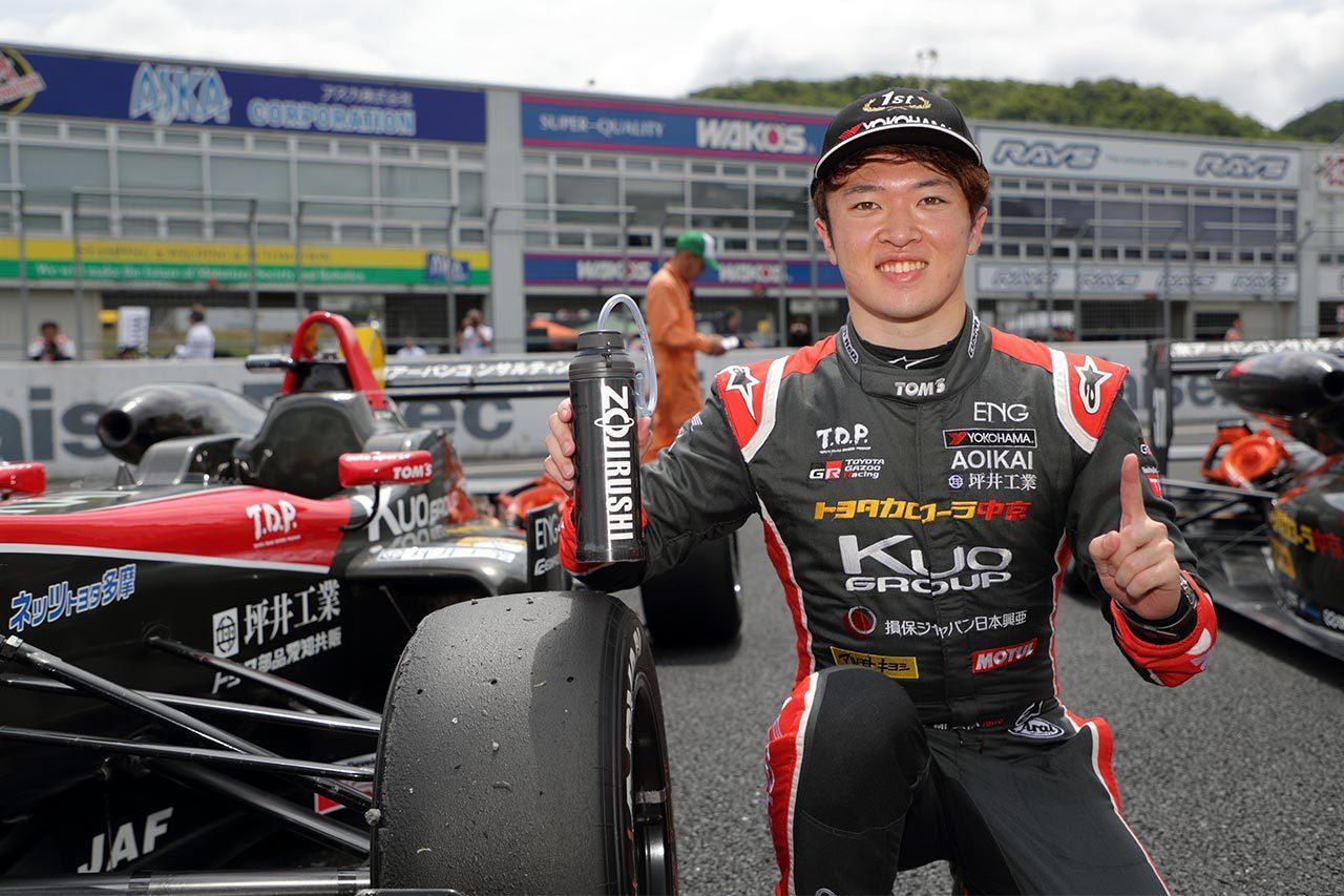 全日本F3選手権第7戦岡山:SC後のスプリントも抑えきり宮田が2勝目。阪口が3位表彰台に