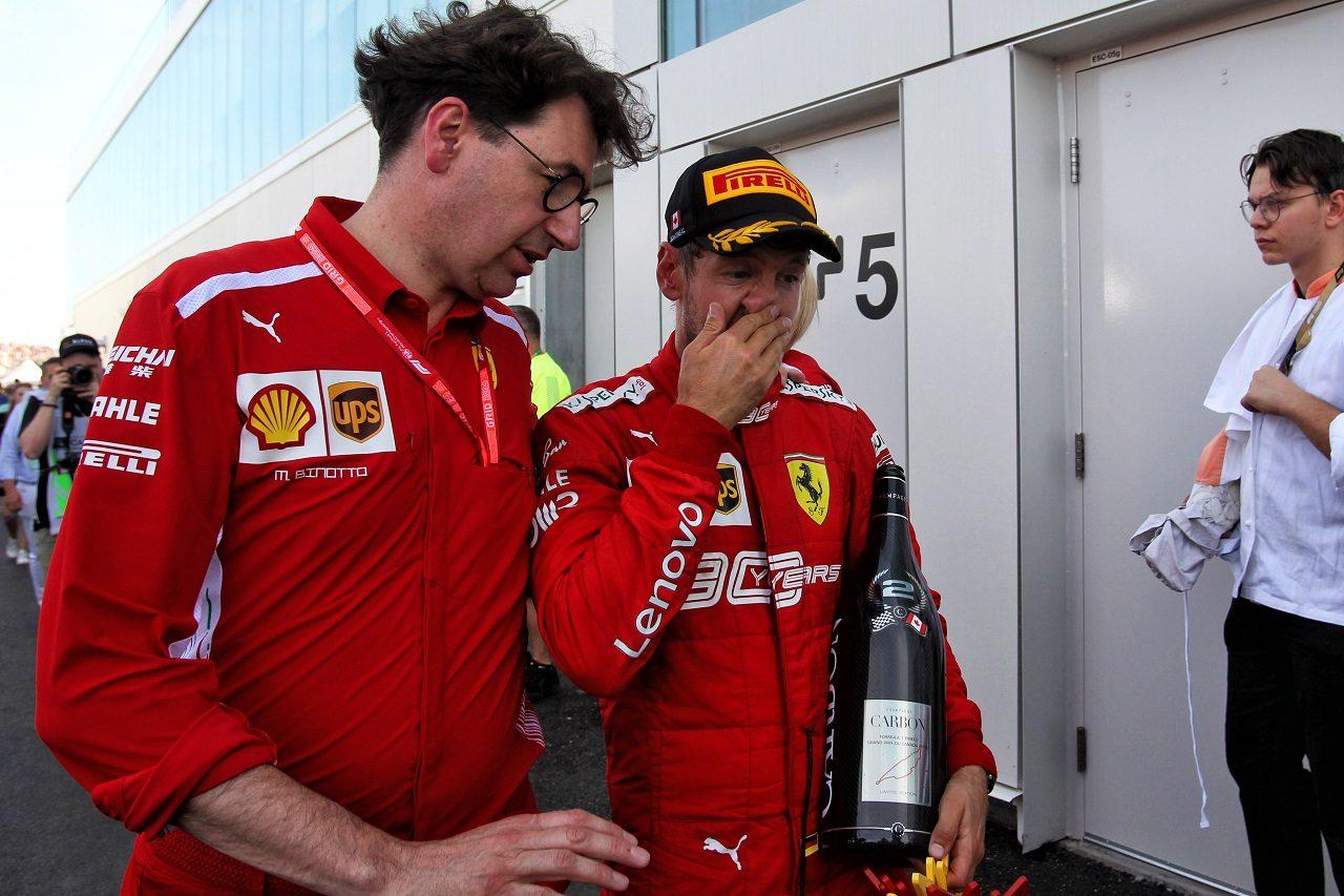 2019年F1第7戦カナダGP ペナルティで勝利を失ったセバスチャン・ベッテル(フェラーリ)