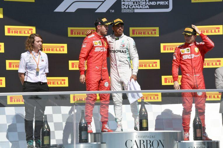 F1 | トラブルの不安を抱えていたハミルトン「正しい形で勝ちたかった。今週末のフェラーリは直線がとにかく速かった」メルセデス F1カナダGP
