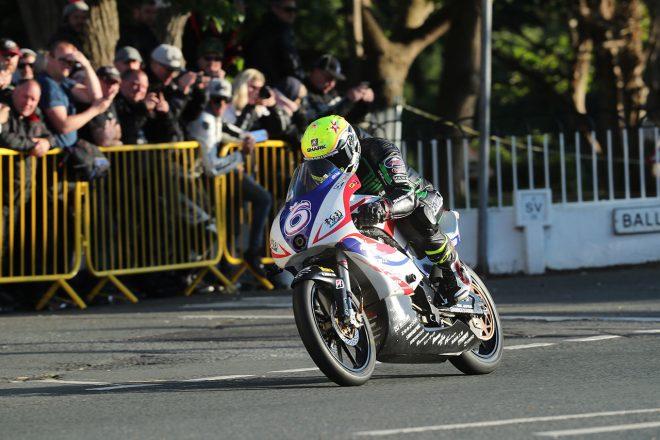 2019年マン島TT TT Zeroクラスで3位を獲得したイアン・ロッカー(TEAM MIRAI with ILR)