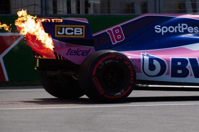 2019年F1第7戦カナダGP ランス・ストロール(レーシングポイント)のパワーユニットにトラブル発生