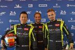 公開車検に姿をみせたCar Guy Racingの(左から)木村武史、コム・レドガー、ケイ・コッツォリーノ