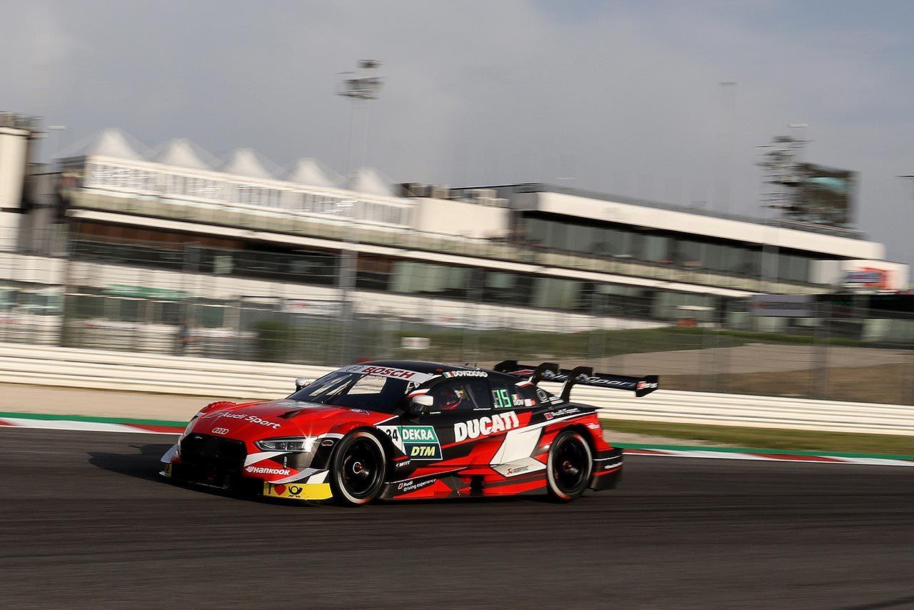 2019年のDTMミサノ戦でアンドレア・ドヴィツィオーゾがドライブしたアウディRS5 DTM