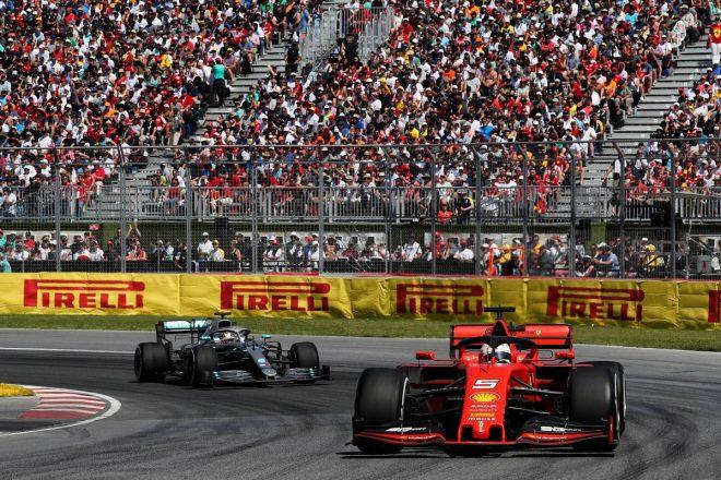 2019年F1第7戦カナダGP セバスチャン・ベッテル(フェラーリ), ルイス・ハミルトン(メルセデス)