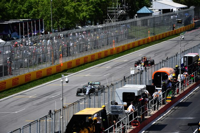 2019年F1第7戦カナダGP バルテリ・ボッタス(メルセデス)とマックス・フェルスタッペン(レッドブル・ホンダ)