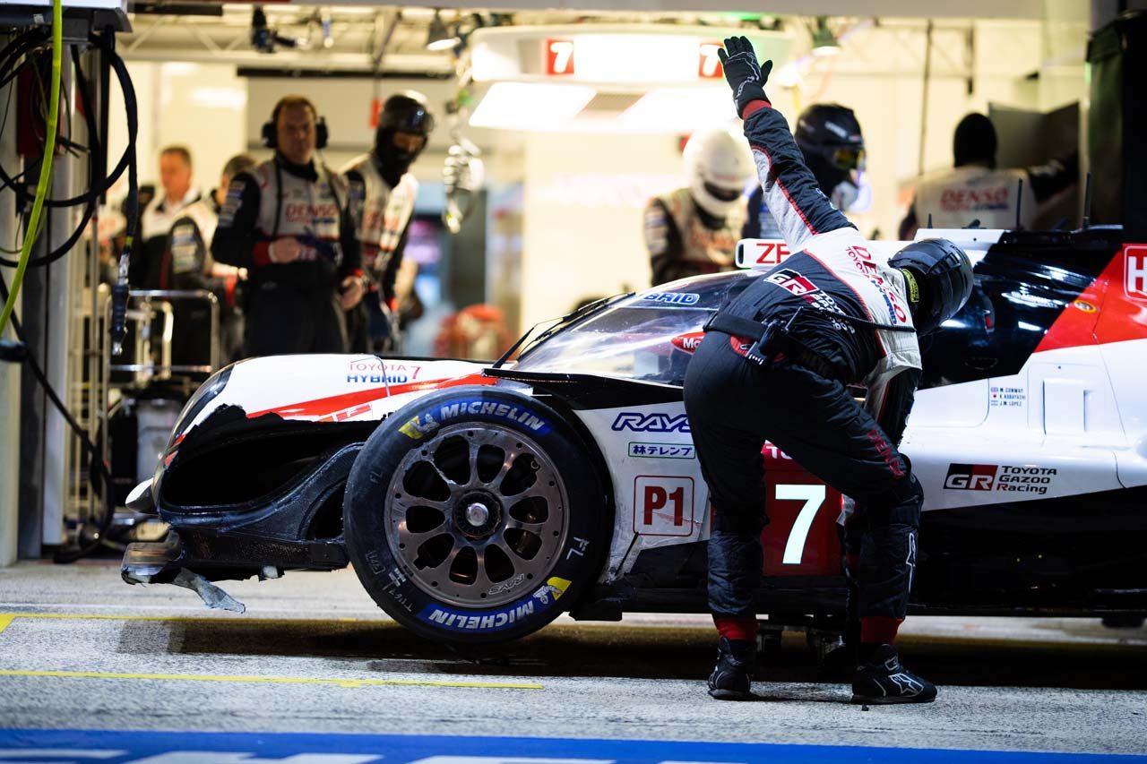 ル・マン24時間:トヨタ、2台揃ってアクシデントに見舞われるも、7号車が暫定ポール獲得