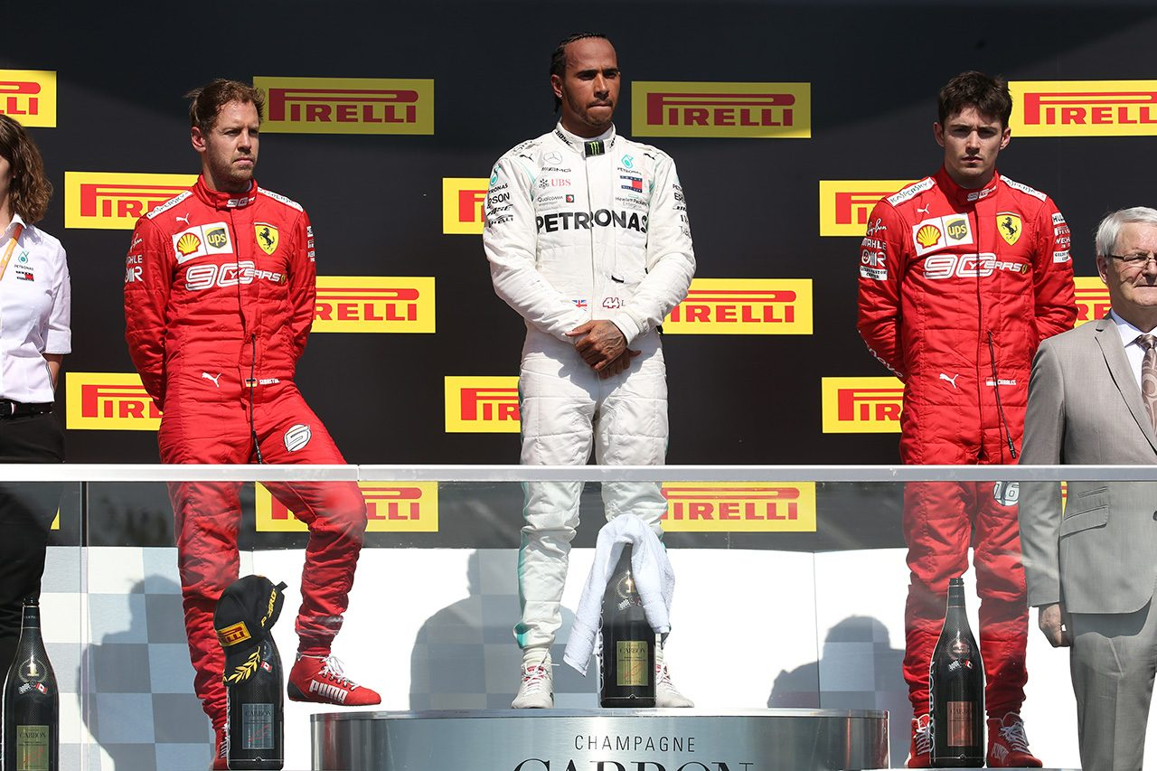 2019年F1第7戦カナダGP ルイス・ハミルトン, セバスチャン・ベッテル, シャルル・ルクレール