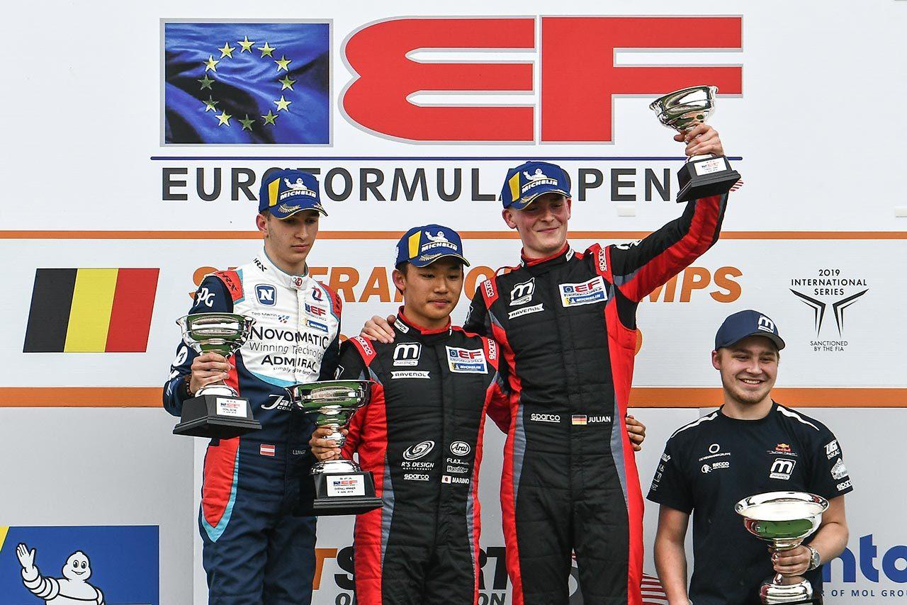 ユーロフォーミュラ・オープン スパ大会レース2の表彰台