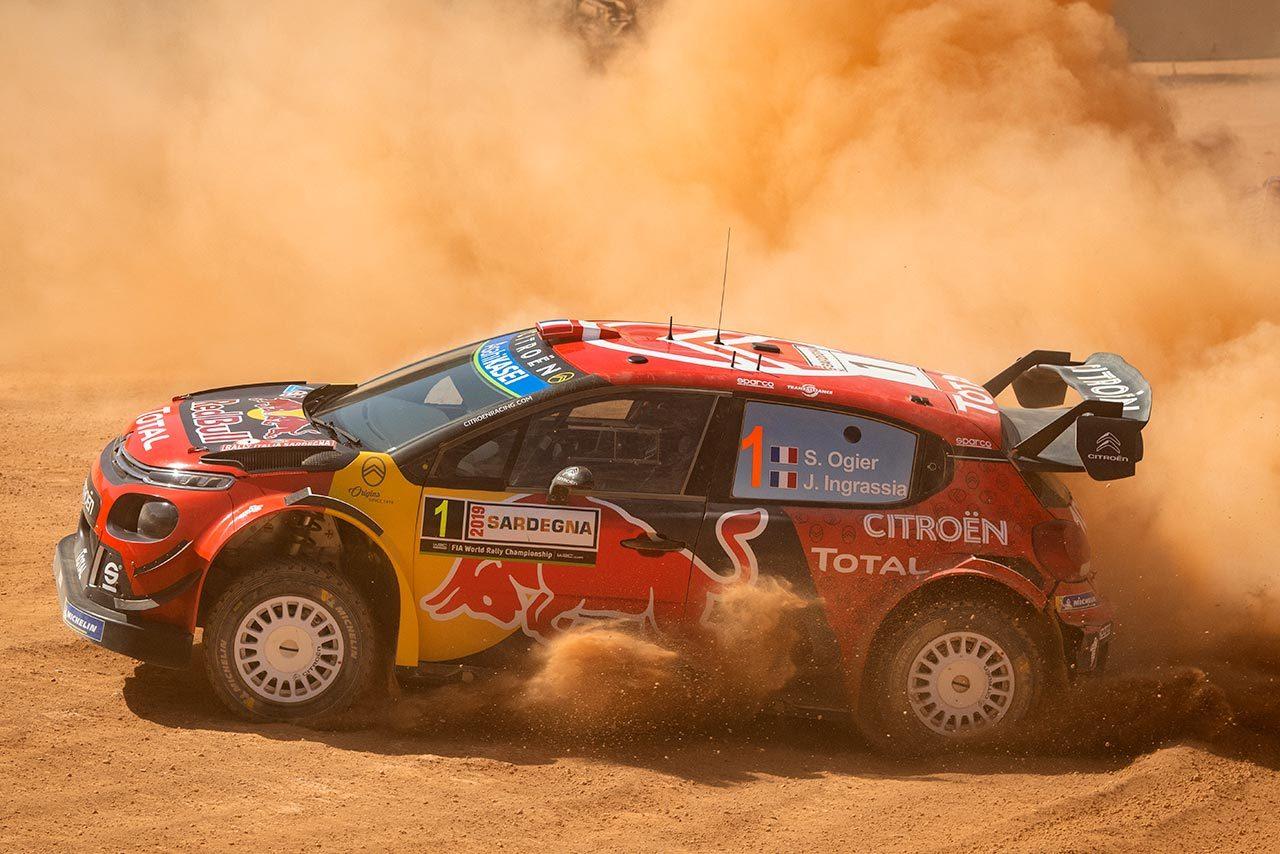 2019年のWRC第8戦イタリア、シェイクダウン最速タイムを記録したセバスチャン・オジエ(シトロエンC3 WRC)
