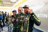 LM-GTE Proクラスのポールポジションを獲得したアストンマーティン・レーシングの(左から)ダレン・ターナー、マルコ・ソーレンセン、ニッキー・ティーム