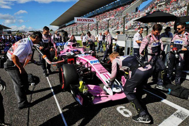 2018年F1第17戦日本GPグリッド/セルジオ・ペレス
