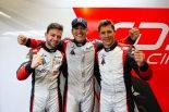 繰り上がりでポールを獲得したTDSレーシングの(左から)マシュー・バキシビエール、フランソワ・ペロード、ロイック・デュバル