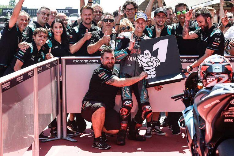 MotoGP   MotoGPカタルーニャGPでルーキー、クアルタラロが今季2度目のポール獲得。ヤマハ勢4台が上位を席巻