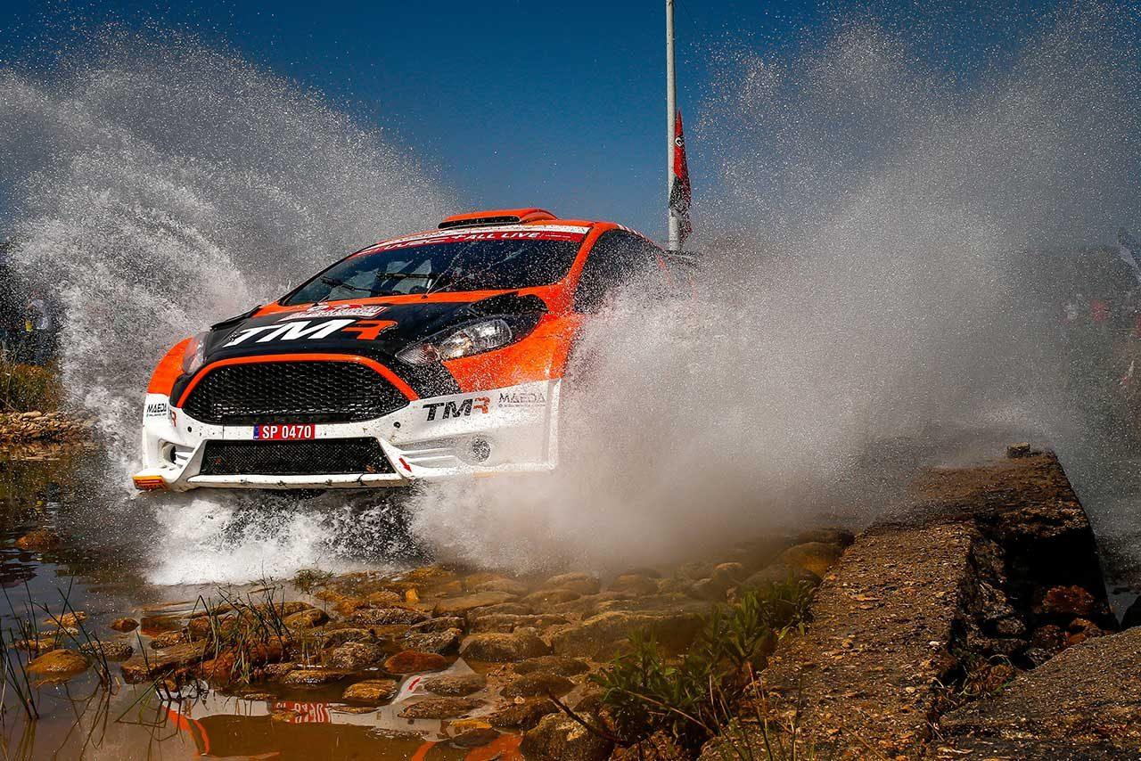 WRC2クラス首位につけた勝田貴元(フォード・フィエスタR5)