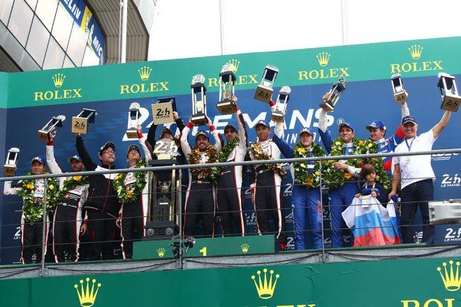 LMP1の表彰台
