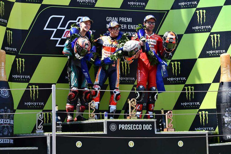 MotoGP   マルケス、後ろにクアルタラロがいたから「攻め続けた」/MotoGP第7戦カタルーニャGP 決勝トップ3コメント