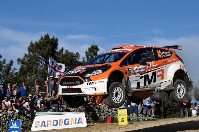 WRC2を戦った勝田貴元(フォード・フィエスタR5)も不運に見舞われた