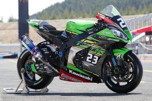 MotoGP | Kawasaki Team GREENのカワサキNinja ZX-10RR 2019年仕様(右フロント)