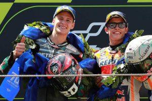 MotoGP | 頭角表すクアルタラロがMotoGPカタルーニャGPで手にした2位。腕の痛みより「表彰台獲得のうれしさが勝った」