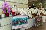 トヨタ東京本社のエントランスにはWECやWRC、バスケットボールのBリーグでの活躍を祝う祝花も飾られていた