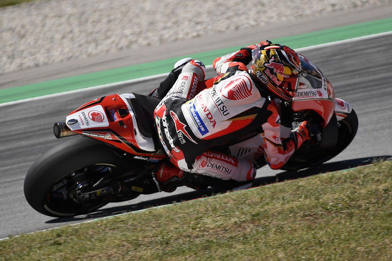 MotoGPカタルーニャテストで2019年型ホンダRC213Vをテストした中上貴晶(LCRホンダ・イデミツ)