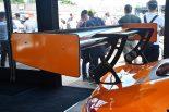 新型メルセデスAMG GT3のリヤウイング。調整がスピーディーにこなせるように。