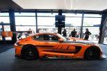 新型メルセデスAMG GT3のサイドビュー。