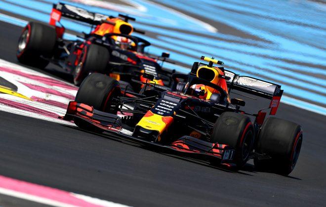 2019年F1第8戦フランスGP ピエール・ガスリーとマックス・フェルスタッペン(レッドブル・ホンダ)