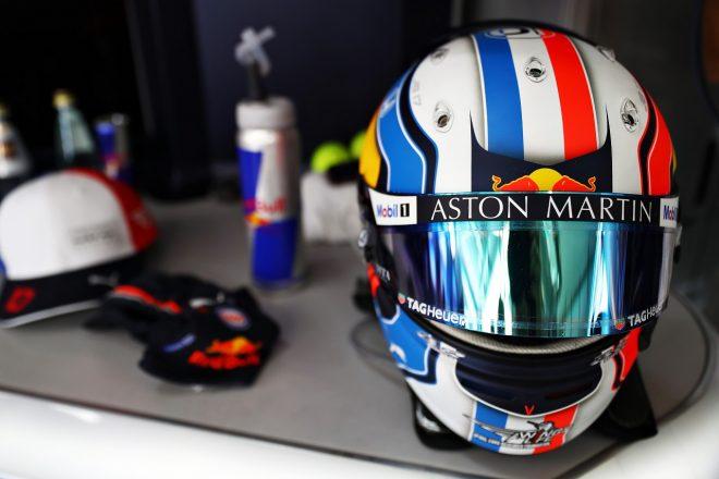 2019年F1第8戦フランスGP ピエール・ガスリー(レッドブル・ホンダ)のフランスGP仕様ヘルメット