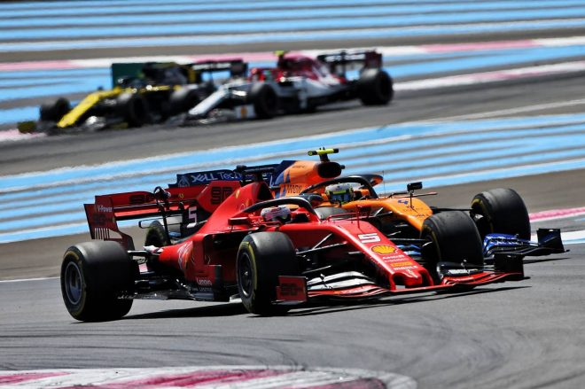 2019年F1第8戦フランスGP決勝 セバスチャン・ベッテルがランド・ノリスをオーバーテイク